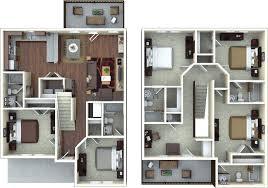 The Retreat Floor Plans Student Apartment Floorplans The Retreat