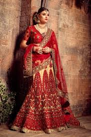 bridal wear color bridal wear embroidered lehenga choli ruchi fashions