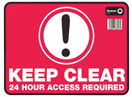 keep clear signs high quality keep clear stickers