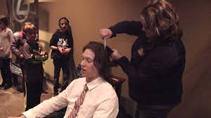 rivermen u0027s eric levine gets haircut for fundraiser youtube