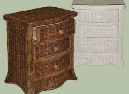 the wicker nightstand in your classic bedroom home architecture