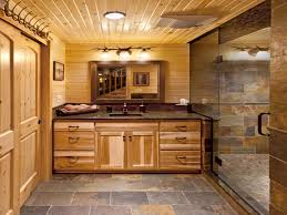 Rustic Cabin Bathroom Ideas Log Cabin Bathroom Ideas Home Design Styles