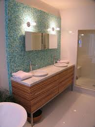 bathroom calm mid century bathroom ideas with teal mosaic