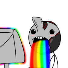 Drooling Rainbow Meme - excalibur drooling rainbows by cyborgrox on deviantart