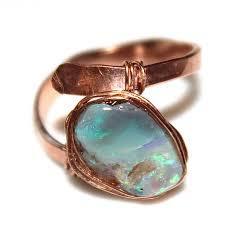 matrix opal ring australian opal ring black opal ring modern ring wedding ring rose