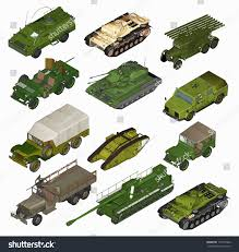 military vehicles set military vehicles 3d stock illustration 197169422 shutterstock