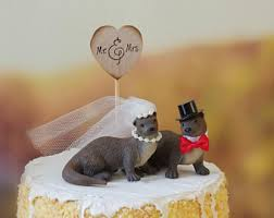otter cake topper marlin wedding cake topper sport