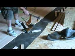 how to install hardwood floor staple type of installation