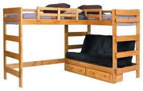 wood bunk bed futon combo 15 fascinating bunk beds with futon