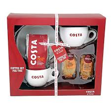 costa coffee set for two with costa coffee 200g and costa