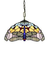 Tiffany Chandelier Tiffany Style Pendant Light With Blue Dragonfly Pattern Parrotuncle