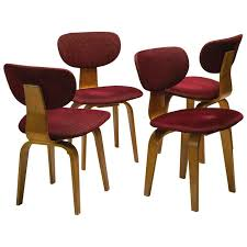 Birch Dining Chairs Pastoe Sb03 Combex Series Dining Chairs In Birch By Cees Braakman