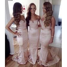 Light Pink Bridesmaid Dress Aliexpress Com Buy Elegant 2016 Light Pink Mermaid Sweetheart