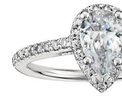 cubic zirconia engagement rings white gold pear shaped halo cubic zirconia engagement ring in 14k white gold