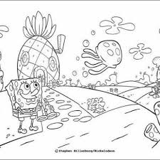 spongebob u0027s house coloring pages coloring