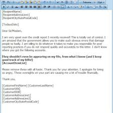 amazing credit dispute letter templates u2013 letter format writing