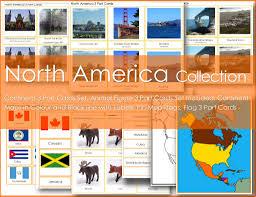 Do Continents Have Flags Montessori North America Continent Collection U2013 Making Montessori