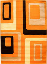 Orange Modern Rug Mid Century Modern Area Rug All Modern Retro Revisited