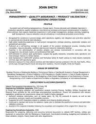 Manual Testing Sample Resumes by Resume Format For Qa Manager Resume Format