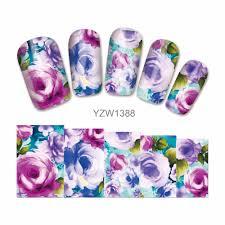 visit to buy zko 1 sheet water transfer nail art sticker decal