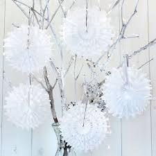 snowflake decorations 5 white mini honeycomb snowflake decorations pipii
