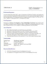 Uat Tester Resume Sample by Automation Testing Resume Cover Letter For Qa Tester Resumes Izudo