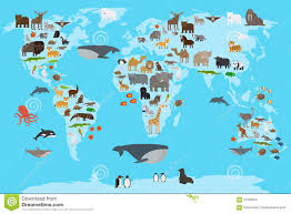 North America Continent Map by Cartoon Map Of North America Continent With Different Animals