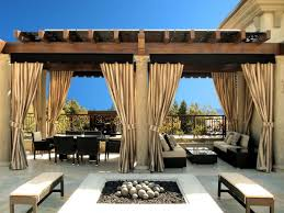 Do It Yourself Patio Cover by Impressive Patio Cover Sun Shade From Satin Linen Stripe Curtains