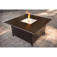 Rectangle Fire Pit Table Garden Treasures 42 000 Btu Liquid Propane Fire Pit Table At