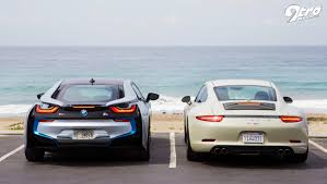 bmw i8 bmw i8 vs porsche 991 carrera the best of both worlds 9tro