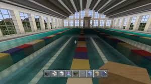 minecraft indoor swimming pool showcase youtube