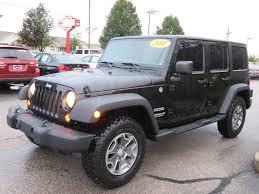 2011 jeep wrangler rims 2011 used jeep wrangler unlimited sport 4wd premium alloy rims 4