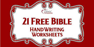 free bible handwriting worksheets heart of wisdom homeschool blog