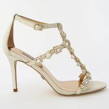 wedding shoes on sale badgley mischka cascade in ivory with gold badgley mischka
