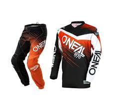 fox motocross gear sets oneal 2018 element race wear black orange gear set