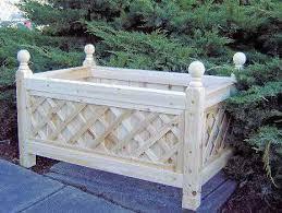 cedar wood lattice planter