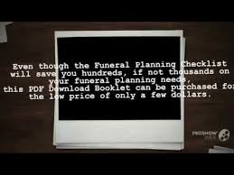 funeral planning checklist how to start planning a funeral and why you need a planning a