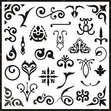 ornamental design elements vector series stock vector clipart