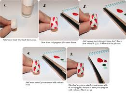 strawberry fields forever nail art tutorial red chili peppers nail tutorial pinterest creative nails