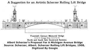 Chicago Water Taxi Map by Michigan Avenue Bridge Dusable Bridge Historicbridges Org