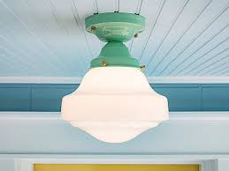 semi flush kitchen light fixtures schoolhouse farmhouse vintage rewired semi flush mount ceiling light