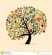 real estate icon set tree stock vector image of apartment 32018722