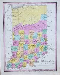Maps Of Indiana Map Of Indiana 1827