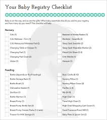 baby registry gifts baby registry checklist template business