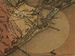galveston island map map of galveston island 1870 s