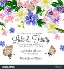 Invitation Card With Photo Wedding Invitation Card With Romantic Flower Dog Rose 2596137