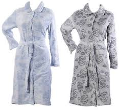 womens floral vintage rose dressing gown ladies button up soft