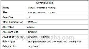 Retractable Awnings Ebay Manual 8 2 U0027 6 6 U0027 Retractable Patio Deck Awning Outdoor Sun Shade