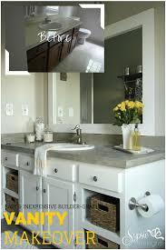 Raising Bathroom Vanity Old Builder Grade Bathroom Vanity Makeover Plus Tutorial