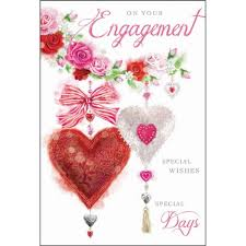 engagement congratulations card hearts butterflies on your engagement card karenza paperie